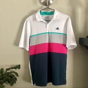 Adidas colour block golf shirt